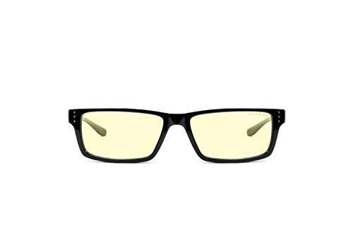 Gunnar Gaming- und Computerbrille | Model: Riot, Rahmen: Onyx, Linse: Amber | Anti-Blaulicht-Brille | Patentierte Linse, 65% Blaulicht- & 100% UV-Lichtschutz zur Verringerung der Augenbelastung