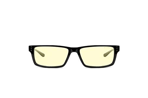 Gunnar Gafas para Videojuegos y Ordenador | Riot, Montura: Onyx, Lentes: Ámbar | con filtro de Luz Azul | Lente Patentada con protección 65% de Luz Azul y 100% de UV Para Reducir la Fatiga Ocular