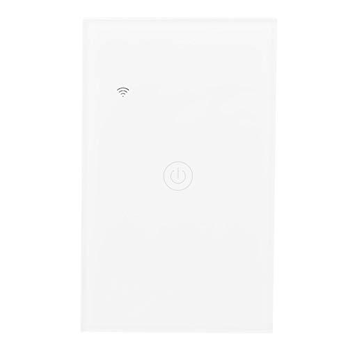 GT-121-1 Interruptor táctil inteligente Wifi, ABS + PC Interruptor inalámbrico de control remoto Wifi, Interruptor de luz inteligente Wifi 100-240VAC 50 / 60Hz, para Google Home
