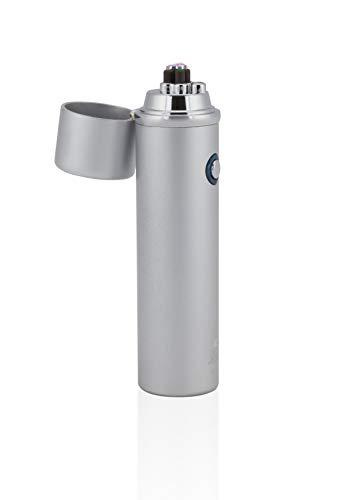 TESLA Lighter TESLA Lighter T02 Lichtbogen Feuerzeug, Plasma Double-Arc, elektronisch wiederaufladbar, aufladbar mit Strom per USB, ohne Gas und Benzin, mit Ladekabel, in edler Geschenkverpackung Silber Silber