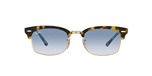 Ray-Ban 0RB3916 Clubmaster Square, (Yellow Havana/Clear Gradient Blue), Talla única