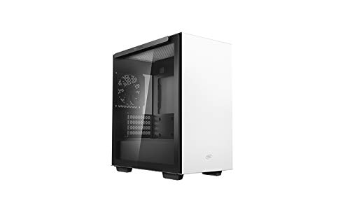 Deepcool MACUBE 110 WH White Micro ATX Computer Cabinet with Magnetic Tempered Glass with up to six 120mm or Four 140mm Cooling Fans Support and radiators up to 280mm on top and in Front