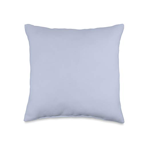 Fancy Solid Color Gifts Co Light Periwinkle Blue Plain Solid Color Simple Classic Throw Pillow, 16x16, Multicolor
