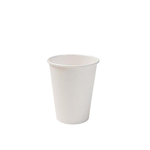 BIOZOYG Bio Pappbecher I Einweggeschirr Trinkbecher Papierbecher kompostierbare und biologisch abbaubare Becher I weiße, unbedruckte, umweltfreundliche Kaffeebecher 50 Stück 300ml 12oz