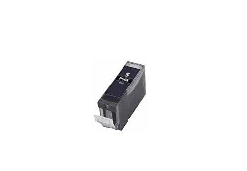 C63 Canon PGI-5[mit Chip]–1x kompatible Tintenpatrone, Schwarz, für Canon Pixma iP4200 4300 4500 5100 5200 5200R 5300, MP 500 530 600 600R 610 800 800R 810 830 950 960 970, MX850