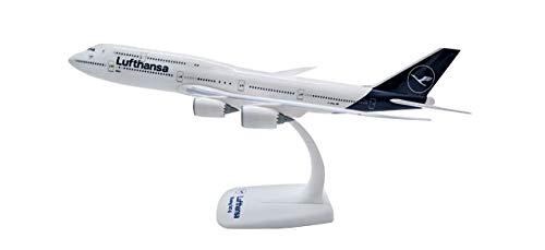 herpa 611930 – Boeing 747-8, Intercontinental, Lufthansa Doppeldecker, Wings, Modell Flugzeug mit Standfuß, Modellbau, Miniaturmodelle, Sammlerstück, Kunststoff, Snap Fit - Maßstab 1:250