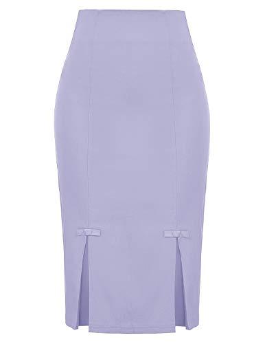 Belle Poque Women Summer Lavender Pencil Skirts S,Lavender