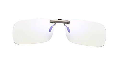 DAUCO Lens Clip On, Anti-scintillement de Pantalla–Gafas Gaming PC Mobile TV–Anti Fatiga Anti UV, Type 1, Talla única