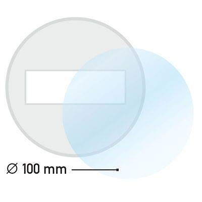 Ablösbare Trägerfolie I 100 mm Ø rund I Durchsichtig klar I Klebefolie-Untergrund für Kfz Feinstaub-Plakette Vignetten Umwelt-Plakette Maut I Wetterfest I kfz_627