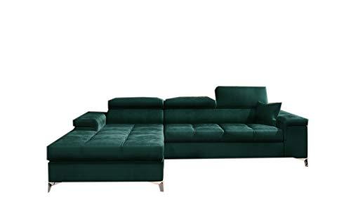 Ecksofa mit Schlaffunktion mit Bettkasten Sofa Couch L-Form Polstergarnitur Wohnlandschaft Polstersofa mit Ottomane Couchgranitur mit Bettfunktion -...
