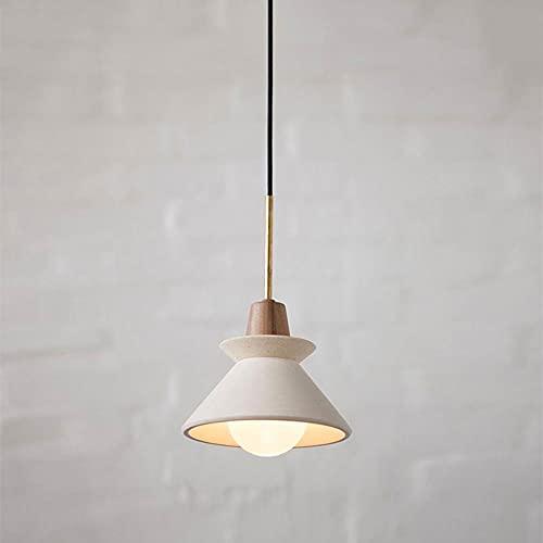 NAMFHZW Linterna de cemento industrial Lámpara colgante pequeña con pantalla de metal Lámpara colgante E27 de 1 luz Semi empotrada para techo Lámpara colgante de altura ajustable Luminaria Mesa de com