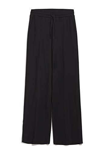 ARMEDANGELS Damen Jerseyhose aus LENZING™ ECOVERO™ Mix - HANNAA - M Black 82% Viskose (lenzing™ Ecovero™), 16% Polyamid (recycelt), 2% Elasthan Hose Jersey
