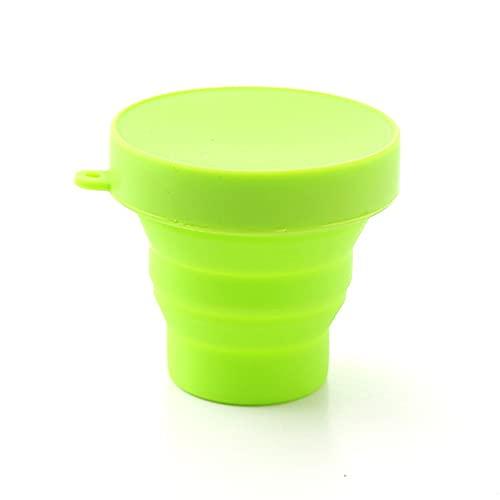 Taza de silicona de color plegable, taza telescópica de acampar al aire libre plegable, agua potable de viaje plegable, taza de café de la cocina, taza de agua ( Cor : Verde claro , Envio de : CHINA )