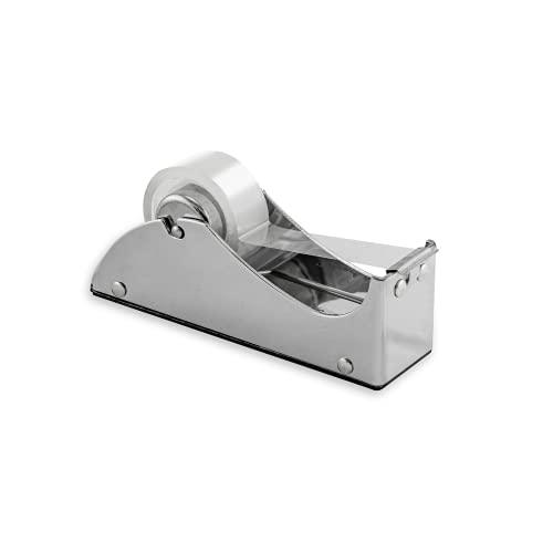 Kornet & Hahn - Dispenser di nastro adesivo, in metallo cromato, design USA.