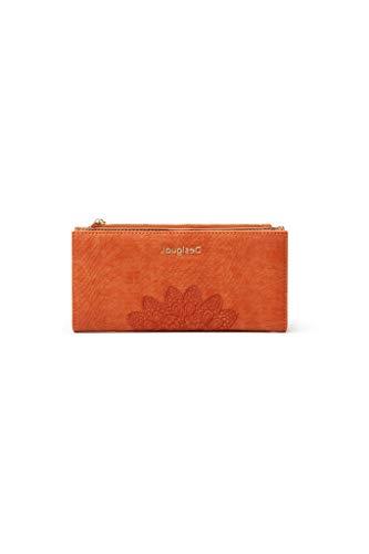 Desigual Long Wallet, Travel Accessory - Cinturón de Viaje para Mujer, Naranja, U