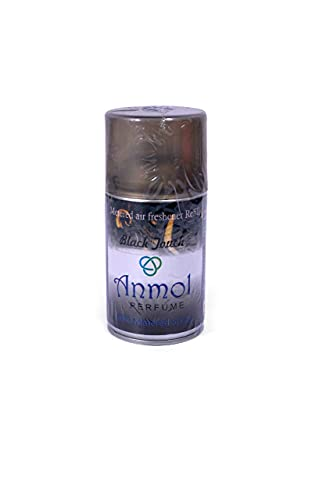 Anmol Perfume Automatic Air Freshener Refill Pack for home, bathroom, office, School hotel and restaurants|300ml (Black Touch)