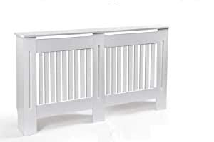 Copritermosifone in legno bianco 152 * 19 * 82 cm copertura per radiatore ISY-781070