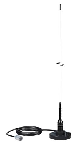 """Boating Accessories New 5218 19"""" Ss VHF Whip Antenna with Magnetic Mount Shakespeare Antennas 5218 Black"""