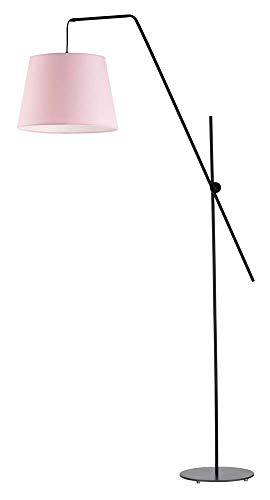 Lámpara de pie VIGO pantalla de lámpara rosa claro marco negro