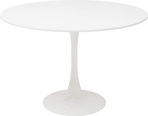 Kare Design Tisch Schickeria Ø110 cm, Esstisch weiß, runder Esstisch, runder Tisch, (H/B/T) 72x110x110cm