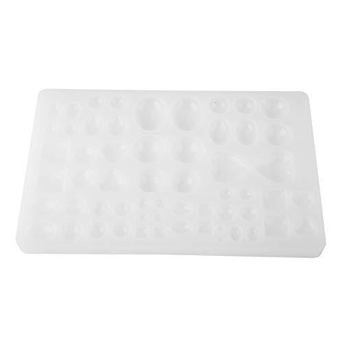 Ong Molde de Bricolaje para joyería, Molde para Hacer Joyas, Forma Diferente práctica Duradera Blanca de Silicona para Colgante de Bricolaje