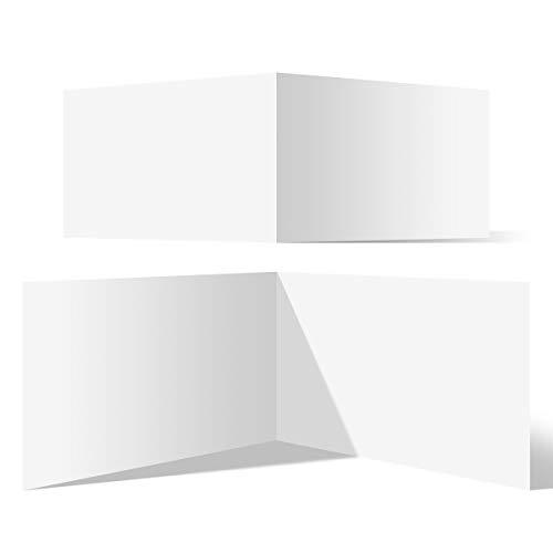 50 Blanko Klappkarten quer DIN A6 148 x 105 mm Bilderdruckpapier matt 300 g/qm Set Papier wählbar