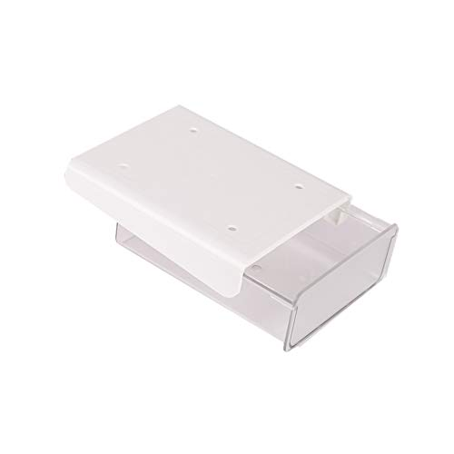 デスク下収納 引き出し文房具 小物入れ 収納 天板下 取り付け ミニスライドてーぶる仕切りトレー 両面テープ 大容量 スマホ・リモコン ペン はさみ 引き出し
