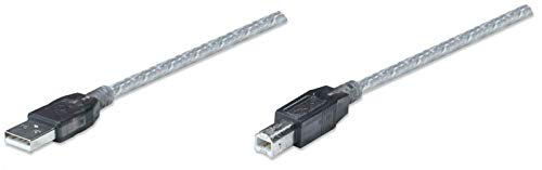 IC Intracom USB 11 m 11m USB A USB B Macho Macho Plata - Cable USB (11 m, USB A, USB B, 2.0, Macho/Macho, Plata)