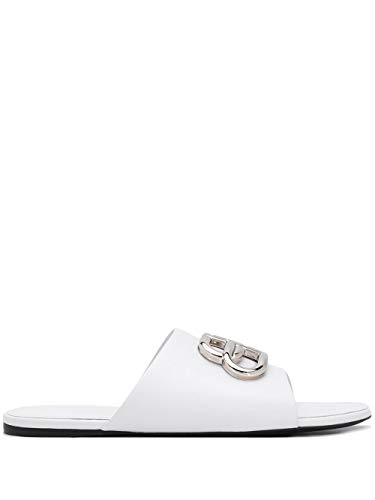Luxury Fashion   Balenciaga Dames 604061WA8F89071 Wit Leer Sandalen   Lente-zomer 20