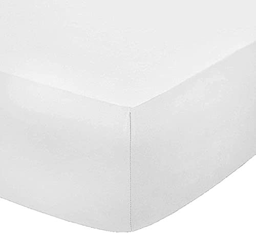 Sleep and Beyond Easy Care Polyester Cotton 12' (30cm) Deep Fitted Sheet...