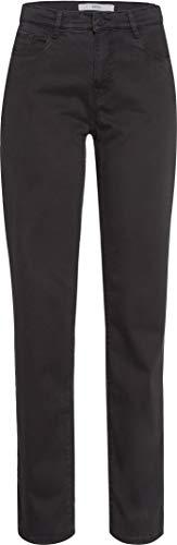 BRAX Damen Style Carola Winter Dream Five-Pocket-Hose in winterlicher Qualität Straight Fit, Grau, 42 Kurz