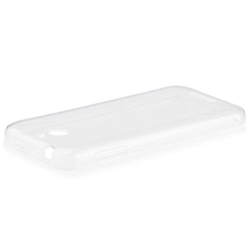HTC Desire 510 | iCues Transparent TPU Hülle Klar | [Bildschirm Schutzfolie Inklusive] Transparent Klarsichthülle Durchsichtig Klare Klarsicht Silikon Gel Schutzhülle Hülle Cover Schutz