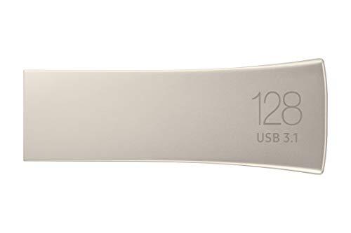 Samsung BAR Plus 128GB Typ-A 400 MB/s USB 3.1 Flash Drive Champagne Silver (MUF-128BE3/APC)