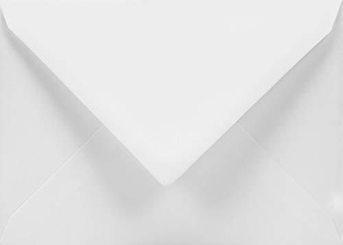 50 Weiß Brief-Umschläge DIN C5 ohne Fenster Spitzklappe Nassklebung 162x229mm 120g Aster Smooth White große Briefumschläge Weiß für Einladungs-Karten Geburtstags-Karten Glückwunsch-Karten