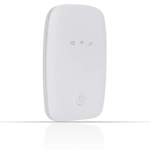Snufeve6 Mini Wifi Box, Large Capacity Battery Portable Hotspot Mobile Router Wifi Box with Good Compatibility for Traveling Outdoors(white)