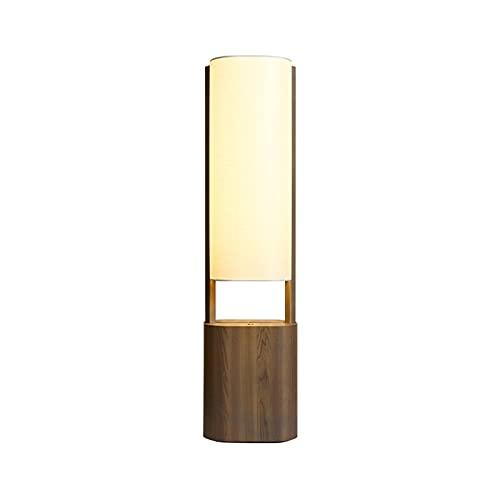 JR2021FF Lámparas de Mesa Lámpara de la Cama Lámpara de Mesa de Acento con Base de Madera y Tela Cuadrada de Tela de Tela de Tablero de la lampara de Escritorio de la lampara Iluminación de Interior
