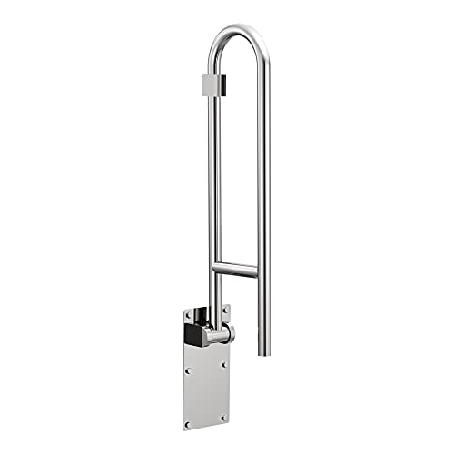 Moen R8960FD 30-Inch Flip-Up Screw-In Bathroom Grab Bar with Textured Grip, Stainless