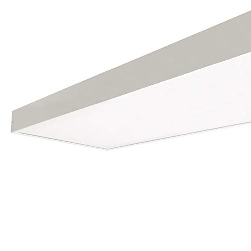LEDKIA LIGHTING Panel LED 120x30cm 40W 4000lm + Kit de Superficie Blanco Neutro 4000K - 4500K