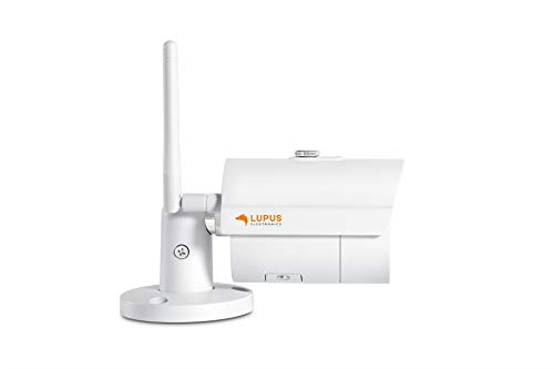 LUPUS-Electronics 10201 LE 201 Cámara IP WLAN, Ranura Micro SD, 92°, se Puede integrar en el Sistema de Alarma Lupus Smarthome, Incl. Software MacOS y Windows Multi-Monitor, Color Blanco