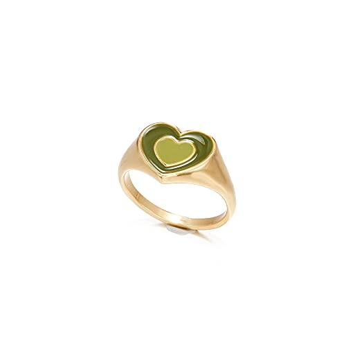 ZENING Ring für Frauen, Tropfring, herzförmig, Modeschmuck, für Mädchen, Farbbeständigkeit, neue Frauen