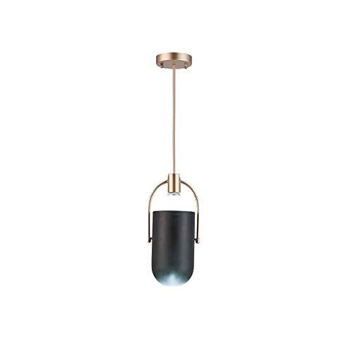 Lyuez Verstelbare plafondlamp zwart restaurant kroonluchter moderne minimalistische eetkamer home kettinglicht creatieve single head decoratieve kroonluchter