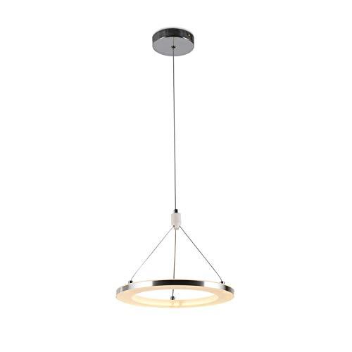 ZMH - Lampara colgante de techo con anillo LED, intensidad regulable, mando a distancia, para mesa de comedor, salon, dormitorio, regulable en altura