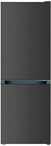 CHiQ Freistehender Kühlschrank mit Gefrierfach | Kühl-Gefrierkombination Low-frost Technologie | 12 Jahre Garantie auf den Kompressor*, Dunkler Edelstahl Look (157L Low Frost)