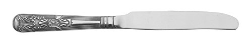 Grunwerg Kings Motif Couteaux de Table, Acier Inoxydable 18/0, Finition Miroir – Quotidien Paroisse de Couverts (Lot de 12)