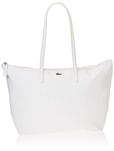 Lacoste NF1888PO  Bolso bandolera para Mujer  Blanc  14x30x35 centimeters