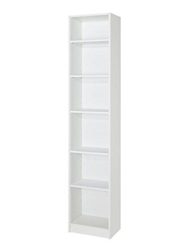 MUEBLECASA - Estantería librería alta KIT 5 baldas, madera, Alto 200cm x Ancho 40cm x Fondo 27, Blanco