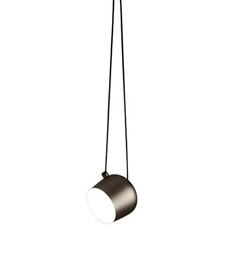 Flos Aim Small - Lámpara de techo colgante (12 W, 24,3 cm), color negro