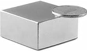 Sonal Magnetics Nickel Coated Block Magnet Size- 50mm x 50mm x 25mm Thk. - 1 Pcs.