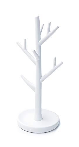 Ridder Lena - Albero portagioie in poliresina, Colore: Bianco 12 x 12,5 x 28,5 cm, Poliresina, Bianco, ca. 12 x 12,5 x 28,5 cm