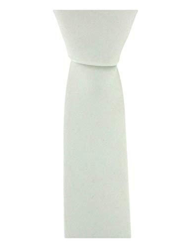 David Van Hagen Blanc Skinny microfibre cravate de